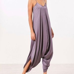 Oversized Satin Jumpsuit